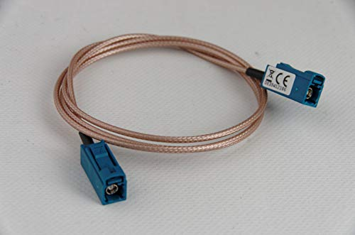 Female Coax-kabel (FAKRA-Z (Female/Buchse) -> FAKRA-Z (Female/Buchse) - RG-316 Kabeladapter - 1 m)