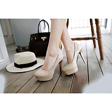 Zormey Damen Sandalen Sommer Club Schuhe Microfaser Casual Stiletto Heel Rot Pink Silber Gold US9 / EU40 / UK7 / CN41