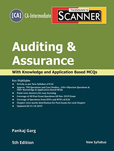 Taxmann's Scanner-Auditing & Assurance (CA-Intermediate-New Syllabus)(5th Edition 2019-Updated till 31-10-2019)