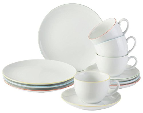 Vivo Villeroy & Boch Group 19-5246-9014 Fresh Color Kaffee Set 12 Teilig Geschirrsets, Porzellan,...