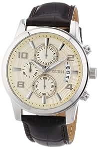 Guess Herren-Armbanduhr XL Exec Chronograph Quarz Leder W0076G2