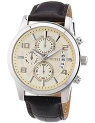 Guess - W0076G2 - Montre Homme - Quartz Chronographe - Chronomètre - Bracelet Cuir Marron