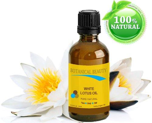 BLANC LOTUS HUILE Naturelle - 10ml. Pour visage corps et cheveux.Une des meilleures huiles régénératives et anti-âge pour la peau. Riche en source naturelle de Vitamine C, protéines et minéraux.
