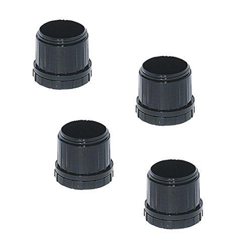 4 Stück - Tischbein Möbelgleiter Kunststoff Bodengleiter für Tischfüße rund | Gleiter für Möbelfüße Ø 60 mm | +25 mm höhen-verstellbar | Kunststoff schwarz | Möbelbeschläge von GedoTec