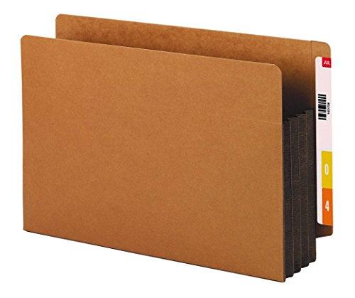 SMEAD Ende Tab Tasche, verstärkte gerade geschnittene Tab, 3-1/5,1cm Expansion, extra breit gesetzlichen Größe, Redrope mit dunkelbraun Seitenfalte, 10Stück pro Box (74681) -
