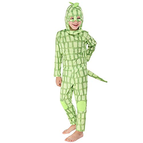 SHANGLY Halloween Eidechsen Kostüm Für Jungs Chamäleon Cosplay Kostüm Tier Jumpsuit,L (Erwachsene Eidechse-kostüm Für)
