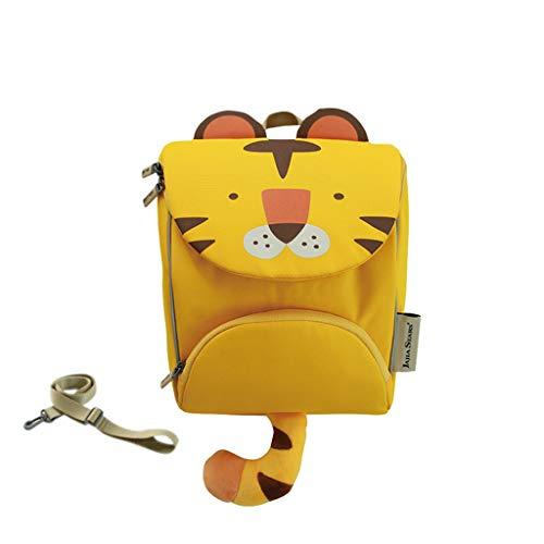 bbe906451d1e CXQ Mochila Escolar para niños de Kindergarten 1~4 años de Edad, Boy Girl  Yellow Little Tiger Hombro de Dibujos Animados Anti-perdida (Color : M)