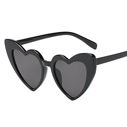 NINGSANJIN Sonnenbrille Damen-Retro-Mode herzförmige Sonnenbrille integrierte UV-Brille E -