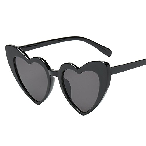 NINGSANJIN Sonnenbrille Damen-Retro-Mode herzförmige Sonnenbrille integrierte UV-Brille E - Herzförmiger Kurzarm-pullover