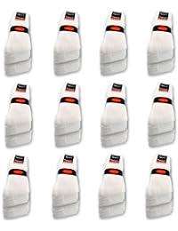 10 bis 60 Paar Tennissocken Sportsocken Arbeitssocken Weiß - Damen & Herren - 35-38 39-42 43-46 47-50