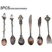 Vintage European Style Palace Tableware Pomegranate Flower Coffee Spoon Six Sets Of Dessert Fork Fruit Cake Fork