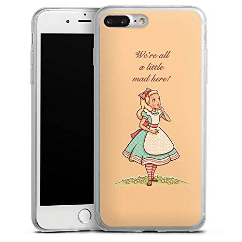 Apple iPhone X Slim Case Silikon Hülle Schutzhülle Alice im Wunderland Sprüche Statement Silikon Slim Case transparent