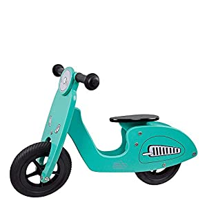WOOMAX - Moto sin pedales de madera Scooter (ColorBaby 85103)
