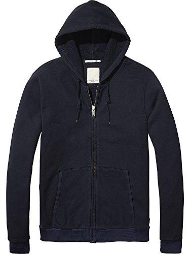 Scotch & Soda Herren Sweatshirt Home Alone Classic Zip Through Hoody Blau (Navy 57)