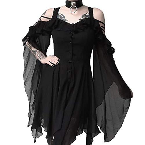 Zombie Ideen Für Selbstgemachte Kostüm - Writtian Halloween Damen Kleid Vintage Mittelalterlichen