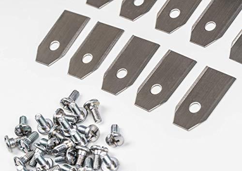 30 x Messer Klingen Longlife (0,75mm) für alle Husqvarna®, Automower® und Gardena® Mähroboter | passend für 105, 310, 315, 320, 420, 330x, R40Li uvm. + Schrauben
