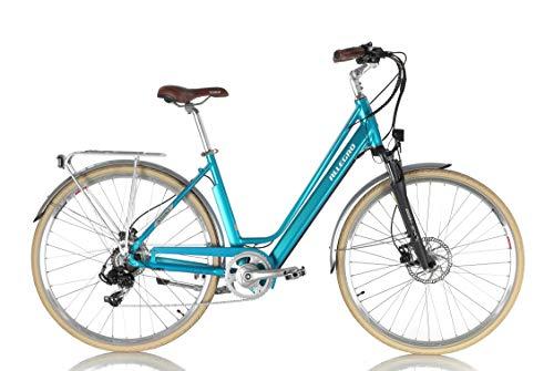 "Allegro Invisible City E-Bike Pedelec Elektrofahrrad Damen 28\"" 48 cm Hellblau Modell 2019"