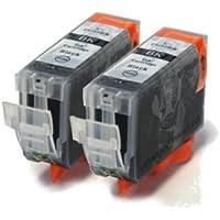 PGI-525 x2 Compatible Black Printer Ink Cartridges 525Bk, PGI525