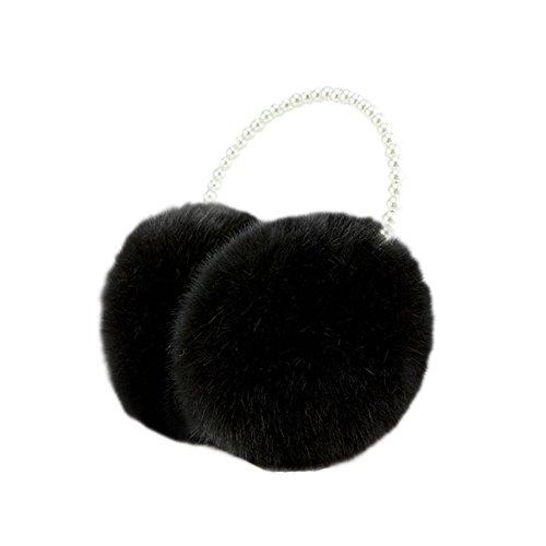 Meijunter Sweet Femmes Hiver Warm Soft Ear Muffs Faux Fourrure perle Coldproof Cache-oreilles Ear Cap 08#