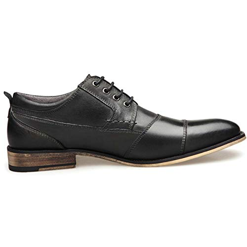 2019 New Men's Business Dress Shoes Genuine Leather England Fashion Casual Oxfords Shoes Classic Plus Size 7.5-13 Black 7.5