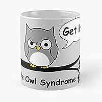 Owl Night Bird Animal Cartoon Birthday Present Fun Funny Humour Smile Happy - Mejor regalo de taza de café de cerámica de 11 oz