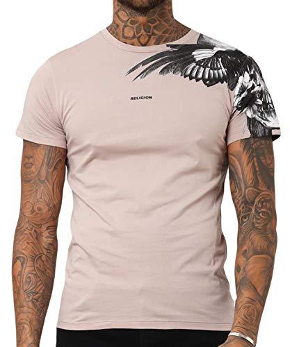 Religion Clothing Herren T-Shirt Shirt 19BSNF02 Skull Wings Grau
