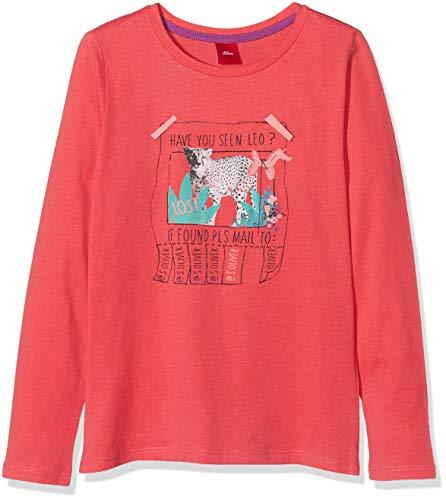 s.Oliver Mädchen 53.908.31.8766 T-Shirt, Rot (Red 4515), 128 (Herstellergröße: 128/134/REG)