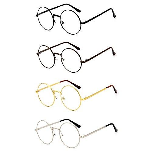 maxfashion-4-stuck-set-retro-runde-brille-mit-fensterglas-damen-herren-brillenfassung-vier-farben-vo
