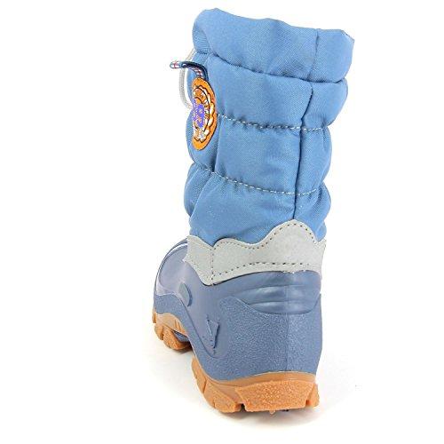 Spirale 78123245 eric mixte enfant (mil-tec bottes d'hiver, bottes fourrées) Bleu - Bleu clair
