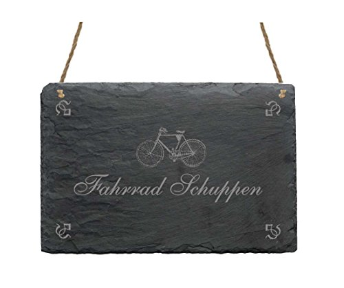 Piano in ARDESIA Targa « Bicicletta capanni