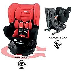 Siège auto Isofix pivotant 360° Groupe 0/1 (0-18kg) - protections latérales