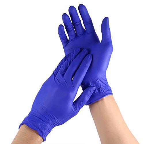 100 PCS / Case bleu-violet jetables gants nitrile pour la cuisine familiale de nettoyage alimentaire universel, non latex ( Size : L )