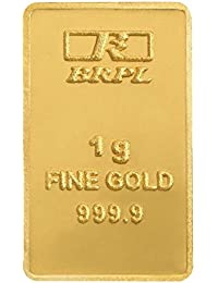Bangalore Refinery 1 gm, 24k (999.9) Yellow Gold Bar