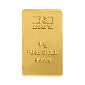 Bangalore Refinery 24k (999.9) 1 gm Yellow Gold Bar