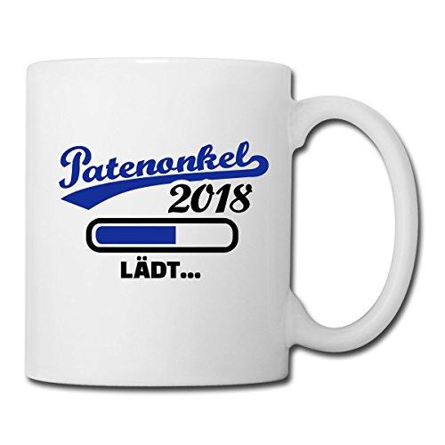 (Spreadshirt Patenonkel 2018 Lädt Pate Ladebalken Tasse, Weiß)
