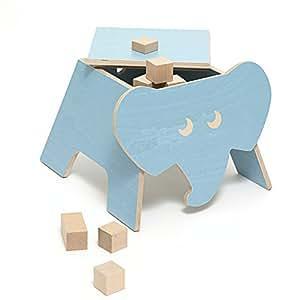 Kinderhocker Hocker Kinderzimmer ELE Elefant by JulicaDesign