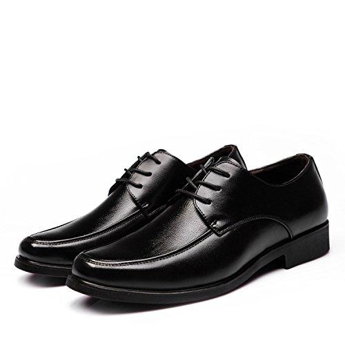 WZG affaires Chaussures Les nouveaux hommes, chaussures de sport dentelle ronde chaussures basses noires , black , 43
