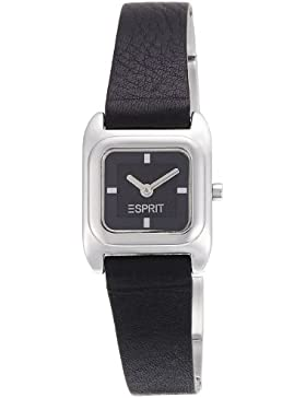 ES105702001 Esprit Damen-Armbanduhr Lolla Quarz analog Leder Schwarz