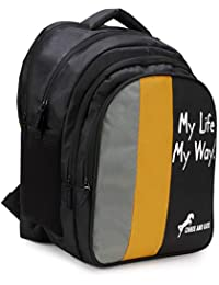 Chris & Kate Big 42 litres Comfortable Black-Yellow Casual Laptop Bag || College Bag || Backpack ||School Bag(CKB_211SE)