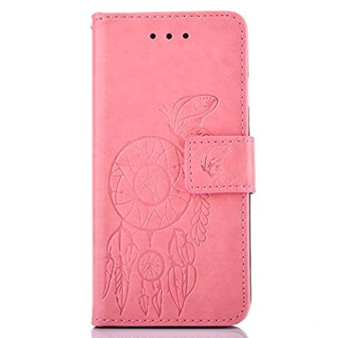 Coque Huawei Y5 II / Y5 2, Cozy Hut ® Étui Housse en Cuir pour Huawei Y5 II / Y5 2, Étui en cuir de protection étui couvercle flip Protège-livres avec Porte-cartes de crédit, crochet, pochette pour monnaie, fermeture magnétique pour Huawei Y5 II / Y5 2 5.0 Pouces ,Campanula Floral Motif Design - Campanula rose