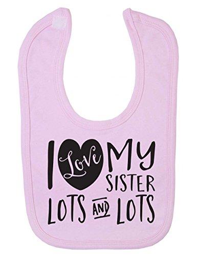 i-love-my-sister-lots-and-lots-cute-recien-nacido-bebe-baberos-rosa-rosa