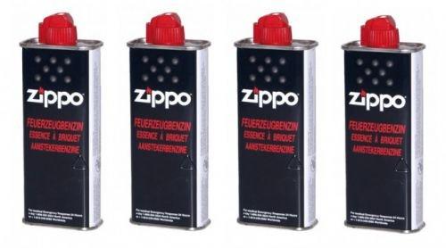 4pieza Zippo Original Mechero Gasolina 125ml