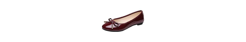 Zapatos Mujer,Moda Mujeres señoras Redondas Dedo del pie Plana Mariposa-Nudo Ocio Zapatos cómodos -
