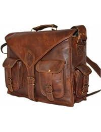 Anshika International Vintage Handmade Latest Genuine Browm Leather Office Laptop And Messenger Bag For Boys/Girls