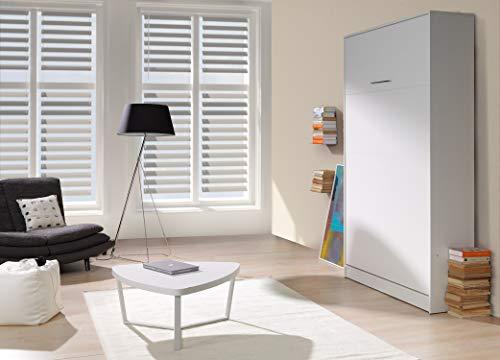 QMM Traum Moebel Schrankbett Wandbett vertikal VB 200x140 4 Farben ausklappbares Wandbett,...