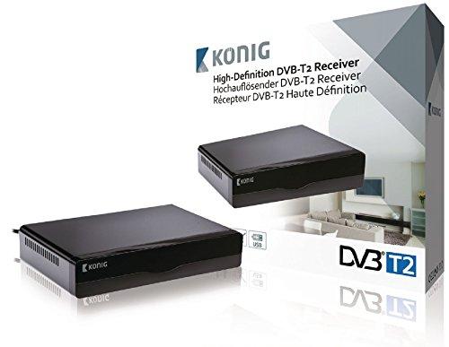 König DVB-T2 FTA10 hochauflösender DVB-T2 Receiver schwarz