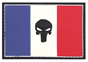 Patch Ecusson 3d Pvc Scratch The Punisher Drapeau France Kza-e-p-996 /444130-5340 Airsoft