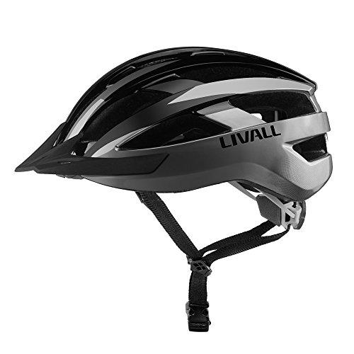 Livall Fahrradhelm MT1 mit Rücklicht, Blinker und SOS-System (schwarz/anthrazit) - 3