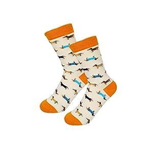 FANRUOM Socken Damenmode aus Baumwolle Baumwollsocken Herbst und Winter Paar lässige neutrale Socken