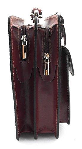 Zerimar. Sac porte-documents en cuir de haute qualité. Compartiments multiples. Mesures 34x10x25 cms. Couleur . cuir